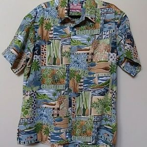 Men's short sleeve button up